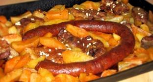 Krumpľe na ťapši alebo zemiaky na plechu